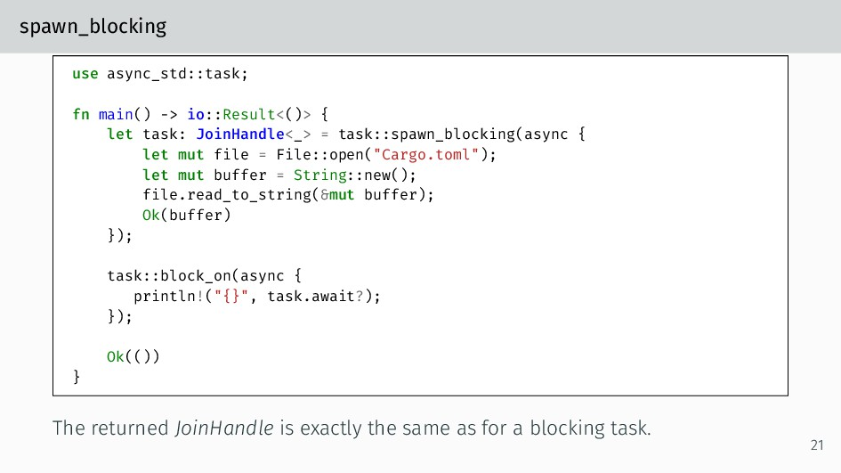 spawn_blocking use async_std::task; fn main() -...