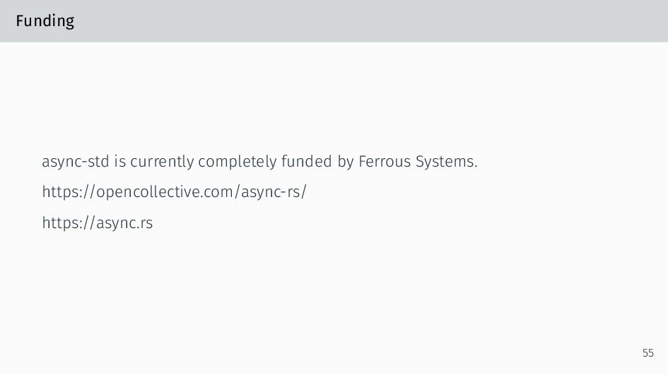 Funding async-std is currently completely funde...