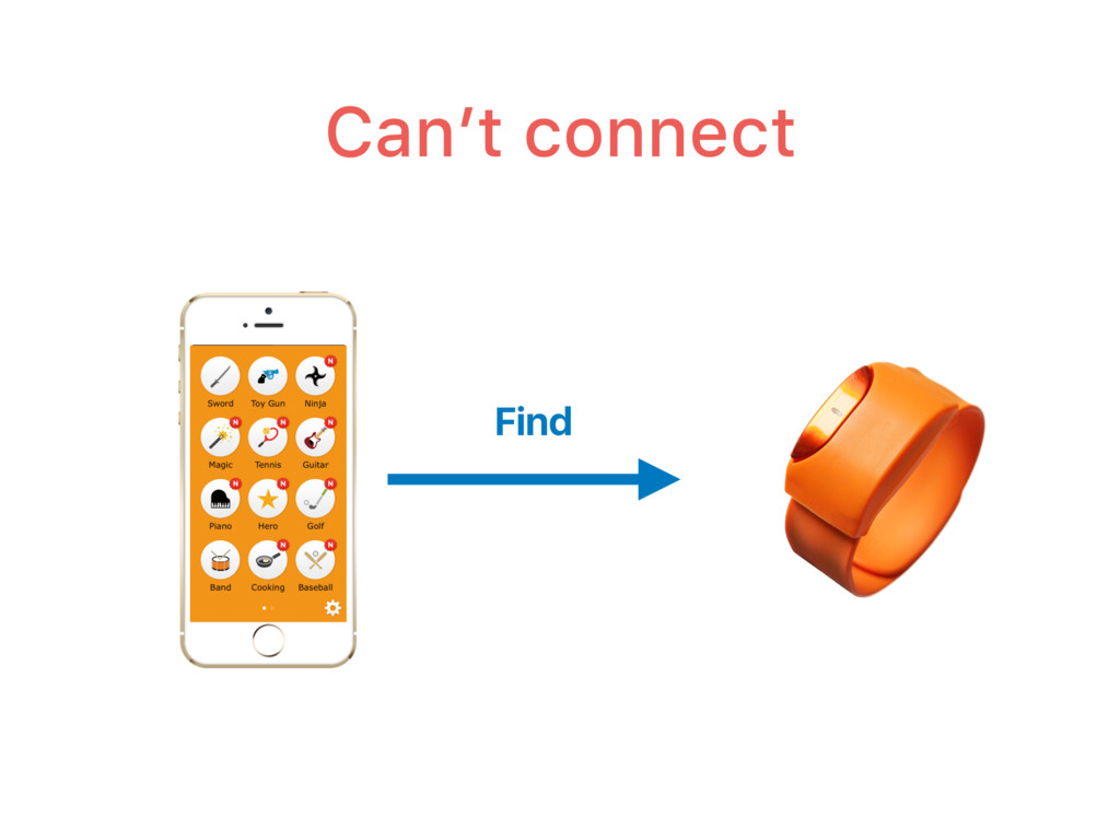 Can't connect Find
