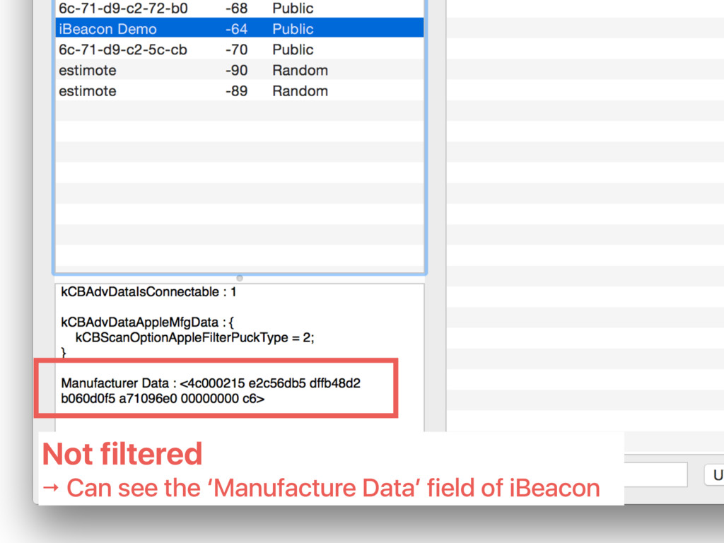 Not filtered → Can see the 'Manufacture Data' f...