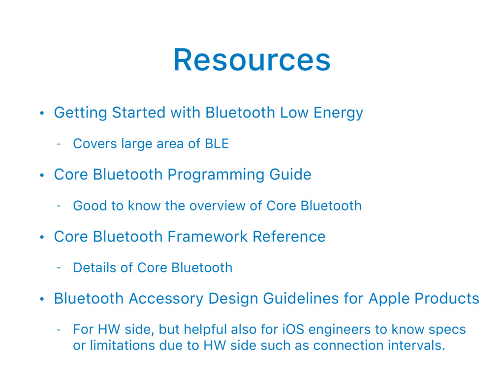 Resources • Getting Started with Bluetooth Low ...