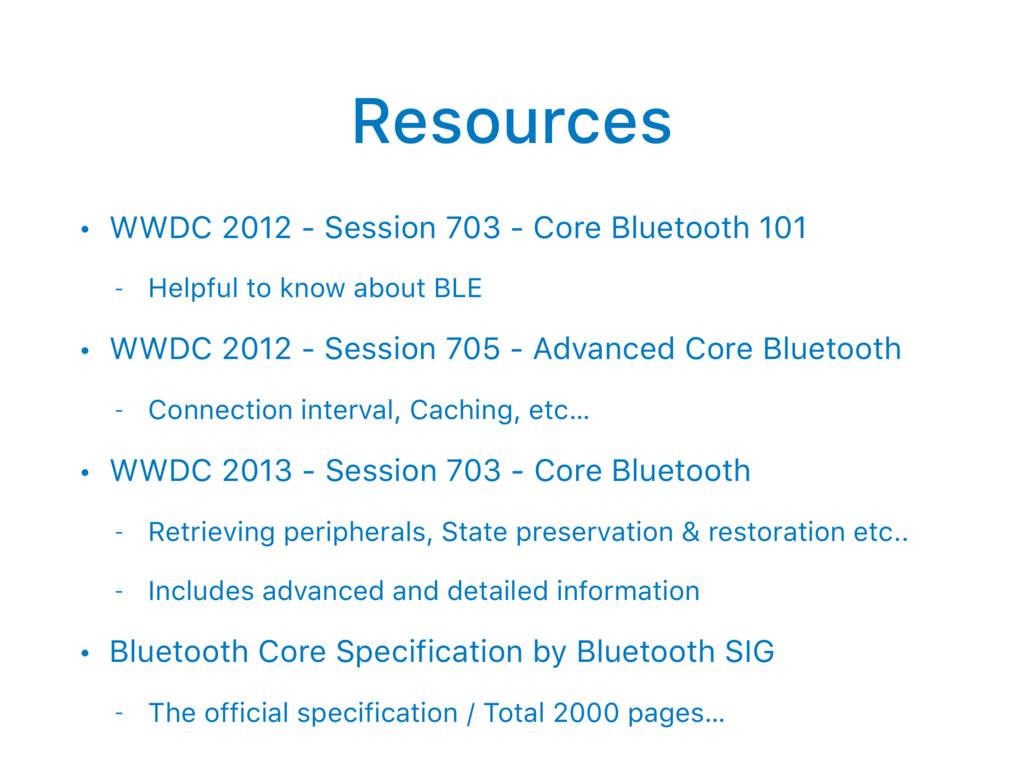 Resources • WWDC 2012 - Session 703 - Core Blue...