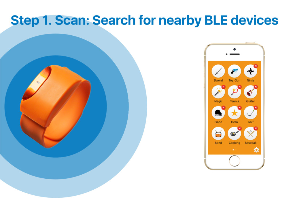 Step 1. Scan: Search for nearby BLE devices