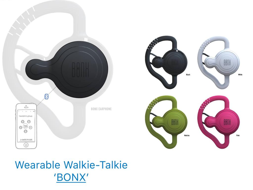 Wearable Walkie-Talkie 'BONX'