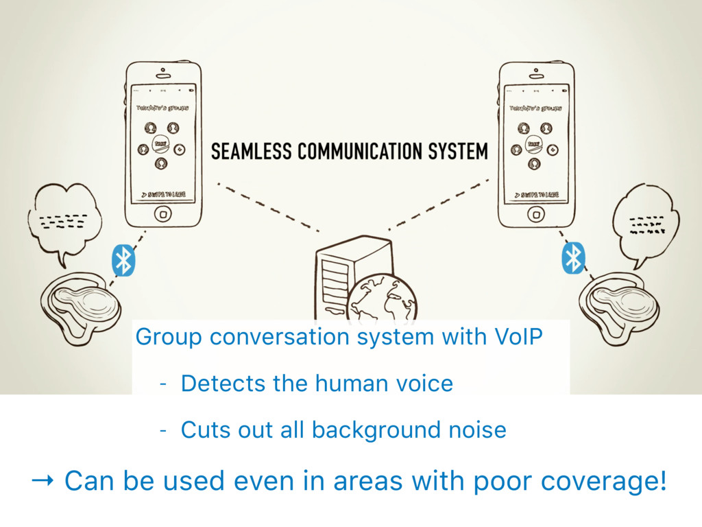 → Can be used even in areas with poor coverage!...