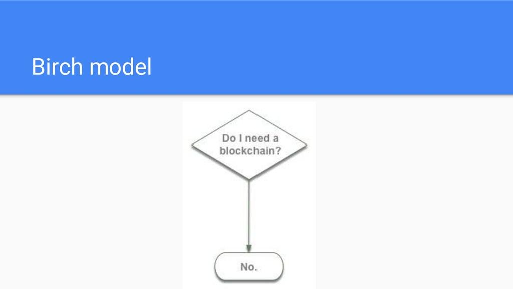 Birch model