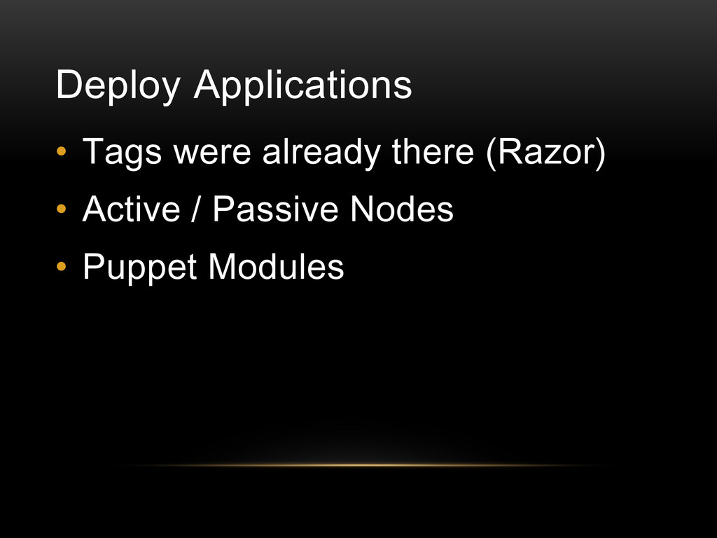 Deploy Applications • Tags were already there (...