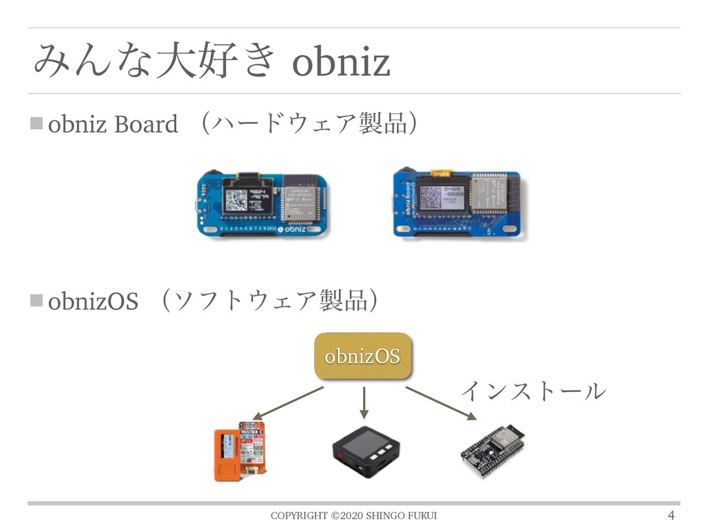 COPYRIGHT ©2020 SHINGO FUKUI obniz Board ʢϋʔυΣ...