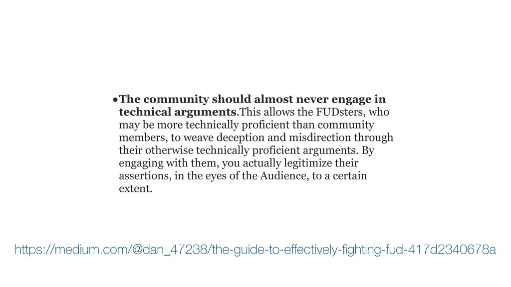 • The community should almost never engage in t...