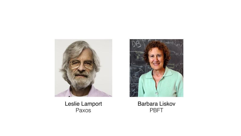 Leslie Lamport Barbara Liskov Paxos PBFT