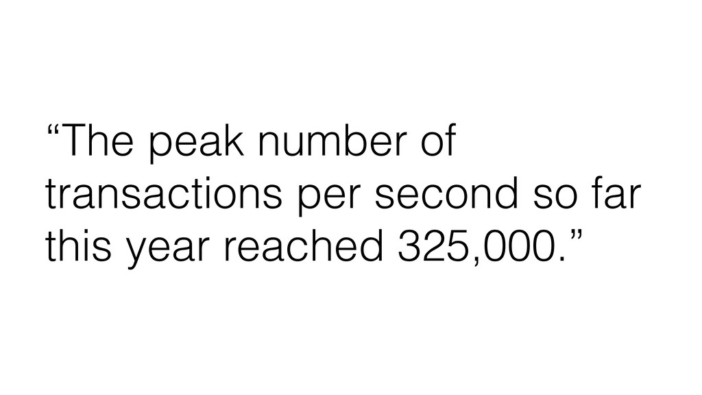 """The peak number of transactions per second so ..."