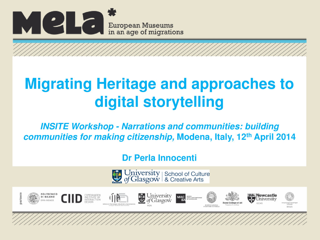 Migrating Heritage and approaches to digital st...