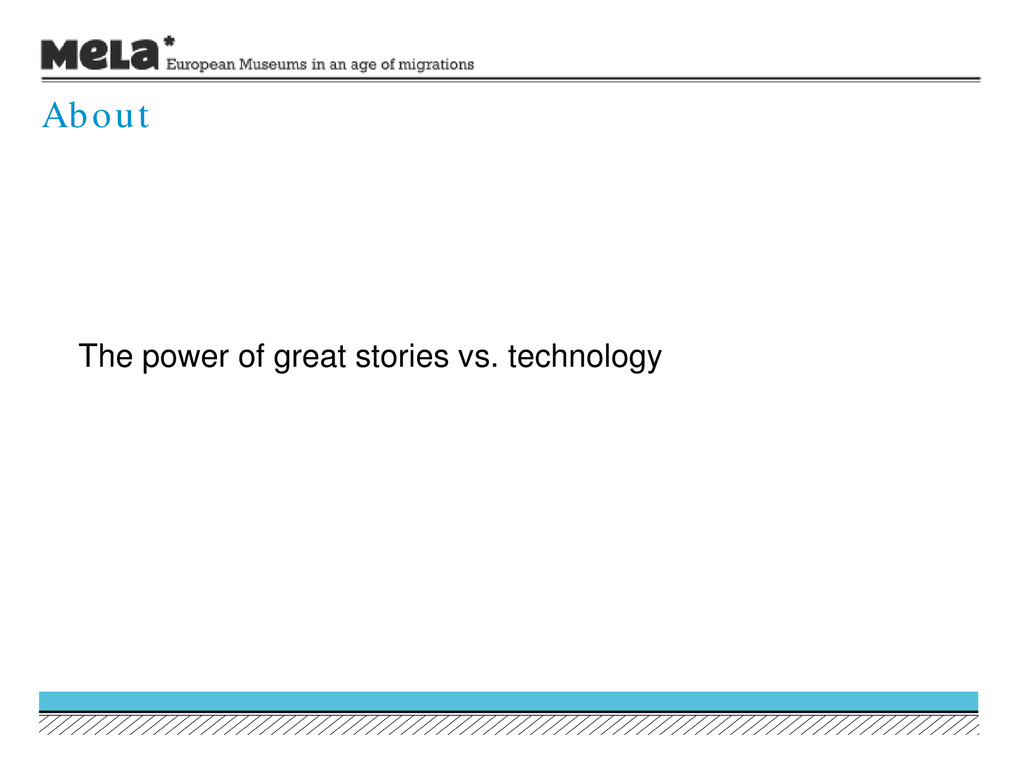 The power of great stories vs. technology About