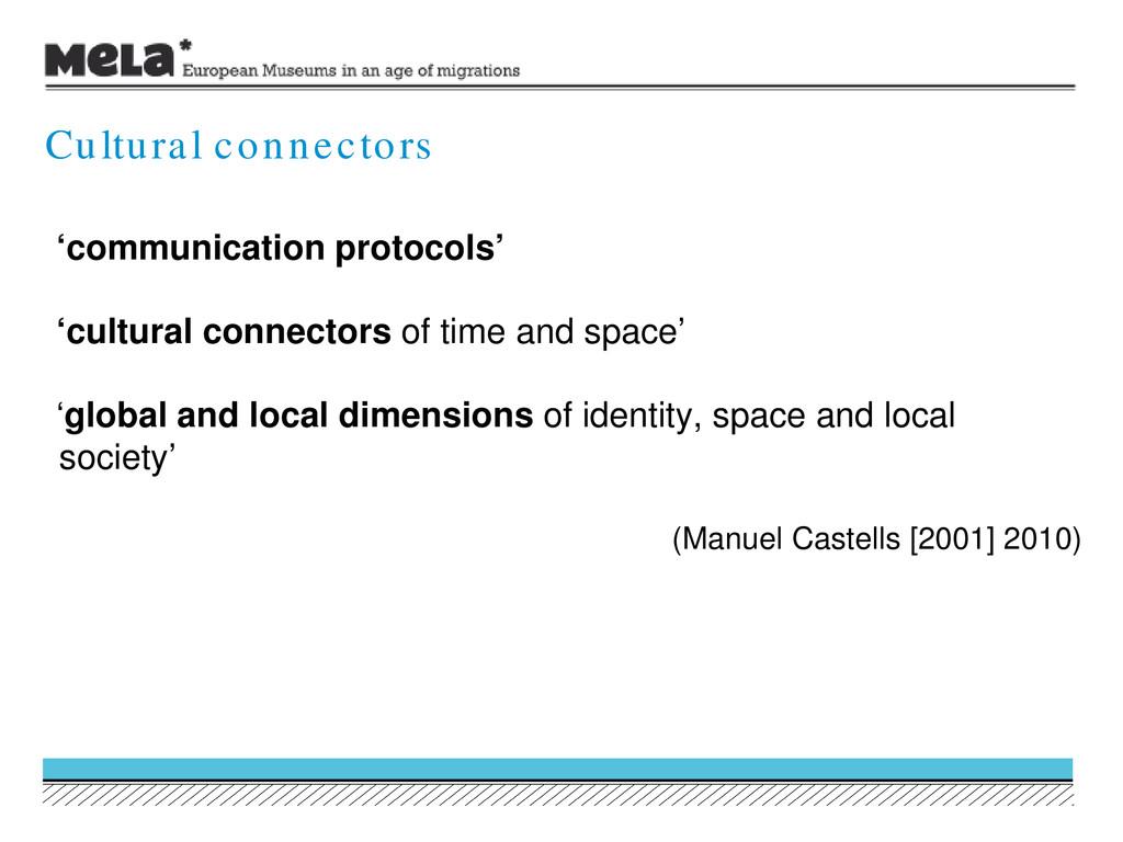 'communication protocols' 'cultural connectors ...