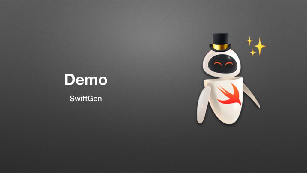 Demo SwiftGen  ✨