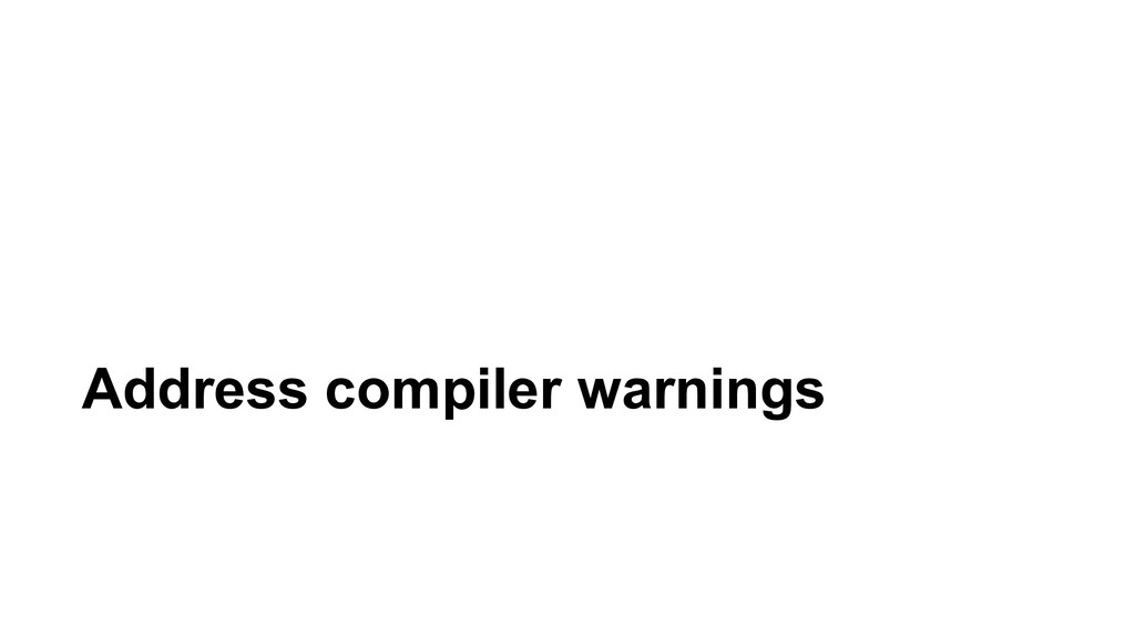 Address compiler warnings