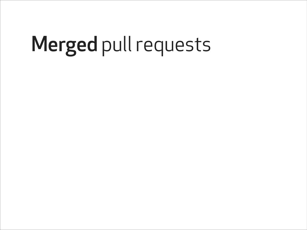 Merged pull requests