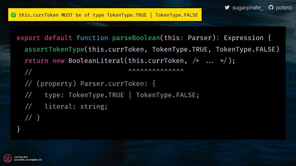 "! sugarpirate_ "" poteto Just Use Any js.la 2020..."