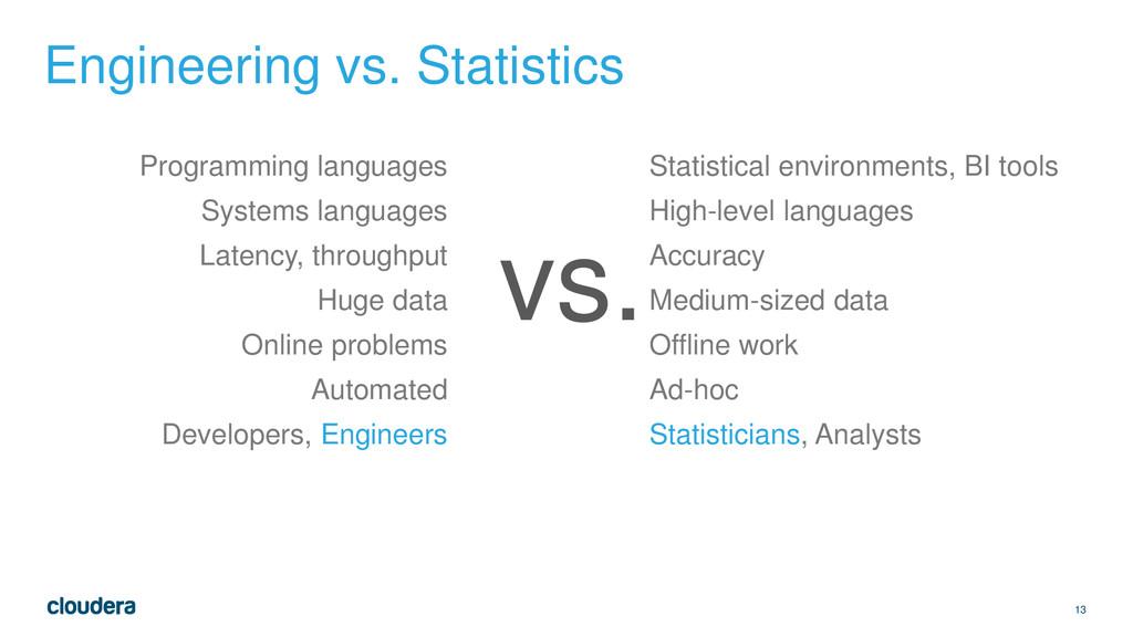 13 Engineering vs. Statistics Programming langu...