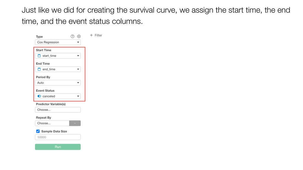 Just like we did for creating the survival curv...