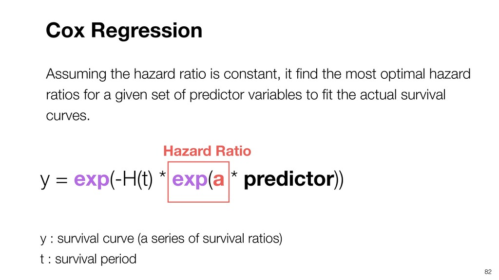 Assuming the hazard ratio is constant, it find t...
