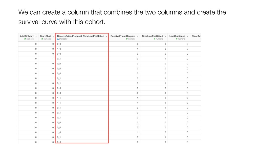 We can create a column that combines the two co...