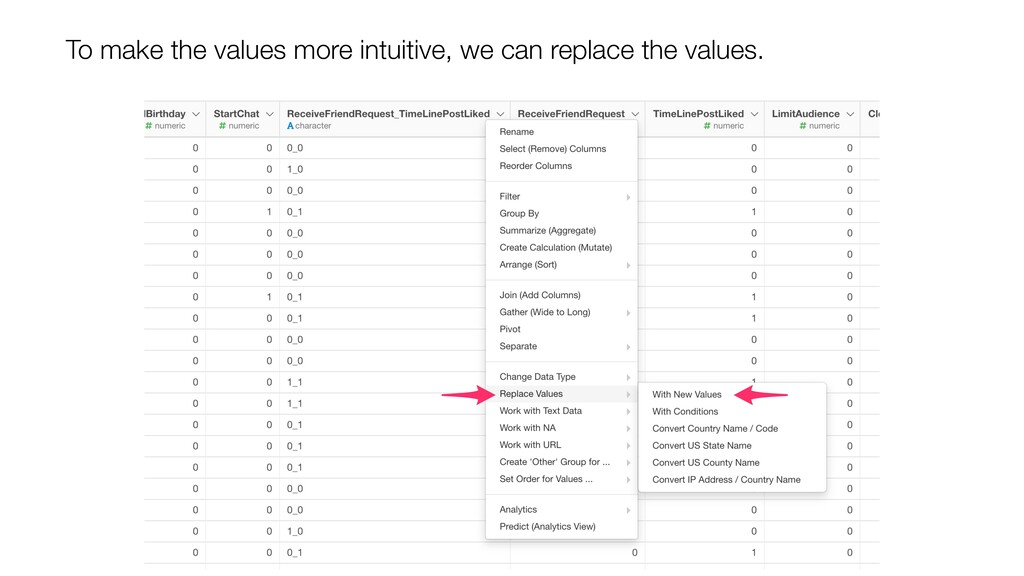 To make the values more intuitive, we can repla...