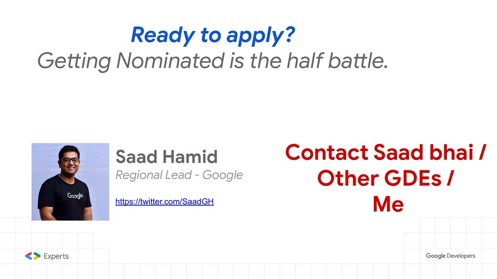 Ready to apply? Getting Nominated is the half b...