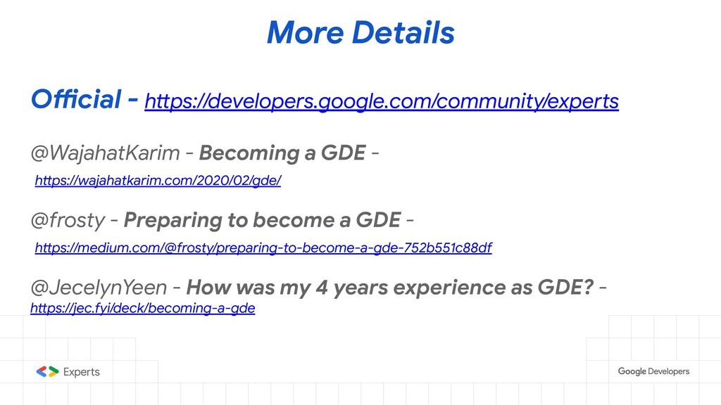 More Details Official - https://developers.goog...