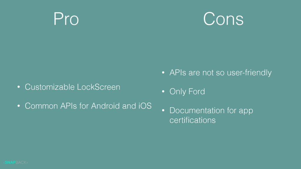 Pro • Customizable LockScreen • Common APIs for...