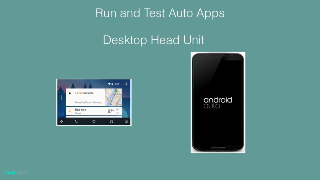 Run and Test Auto Apps Desktop Head Unit