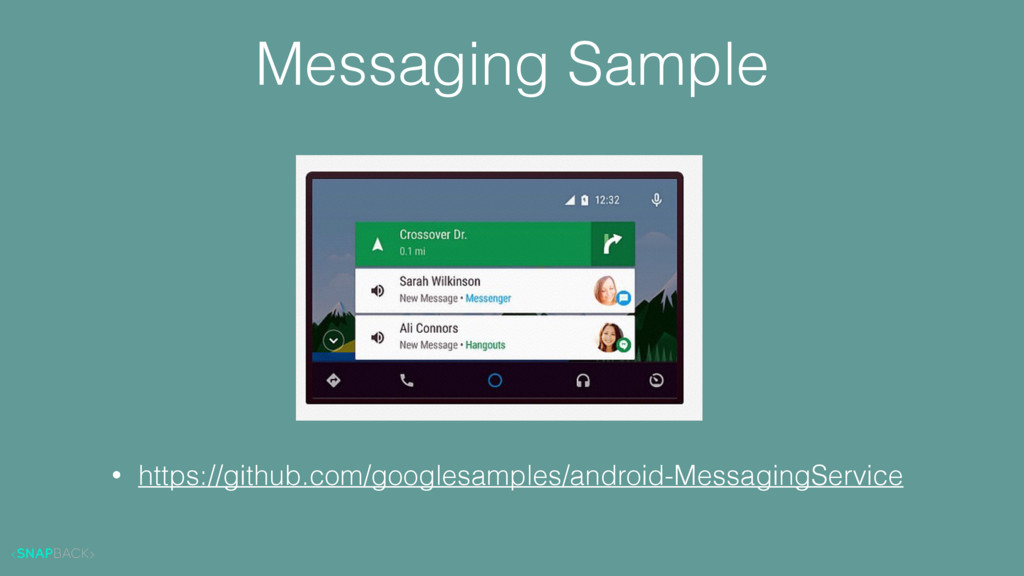 Messaging Sample • https://github.com/googlesam...