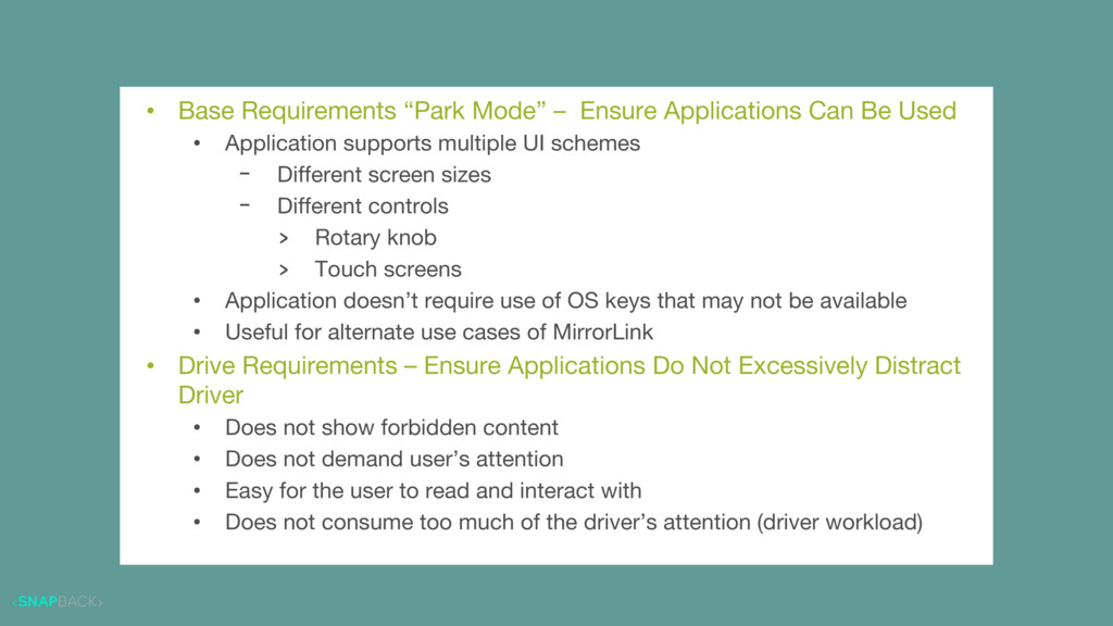 "Application Requirements • Base Requirements ""P..."