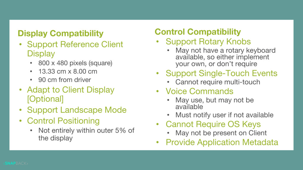 Basic Interoperability Display Compatibility • ...