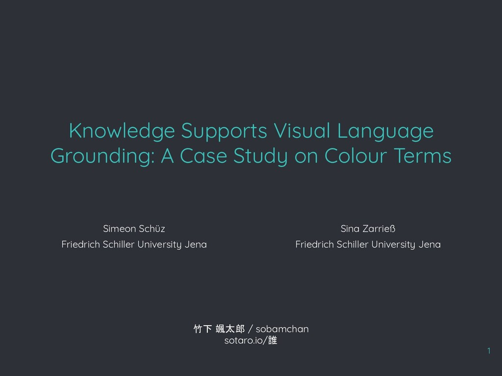 Knowledge Supports Visual Language Grounding: A...