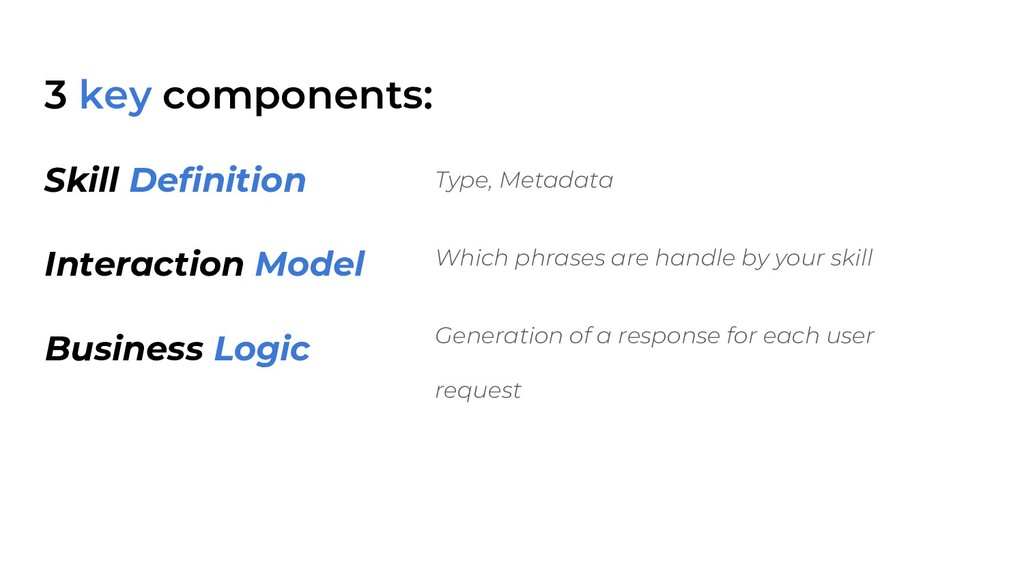 3 key components: Type, Metadata Which phrases ...