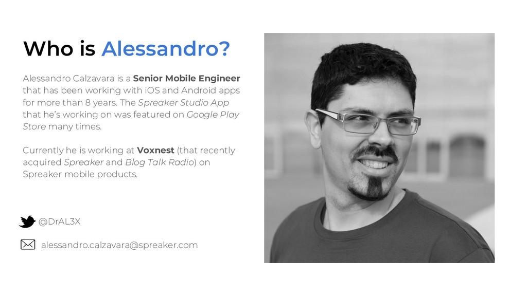 Who is Alessandro? Alessandro Calzavara is a Se...