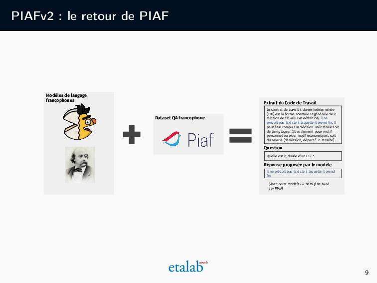 PIAFv2 : le retour de PIAF Le contrat de travai...