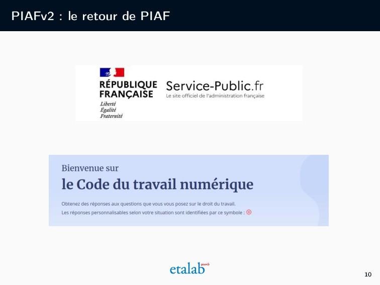 PIAFv2 : le retour de PIAF 10