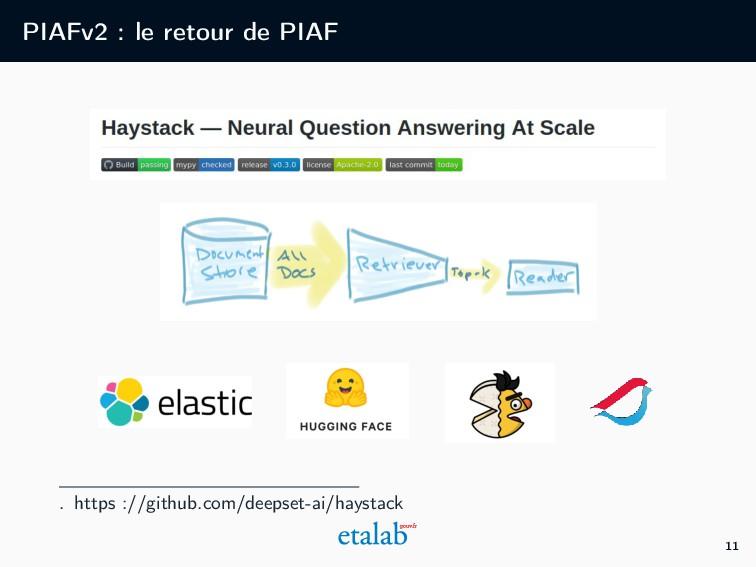 PIAFv2 : le retour de PIAF . https ://github.co...