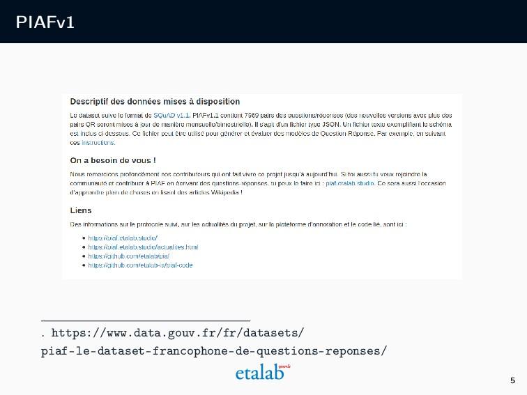 PIAFv1 . https://www.data.gouv.fr/fr/datasets/ ...