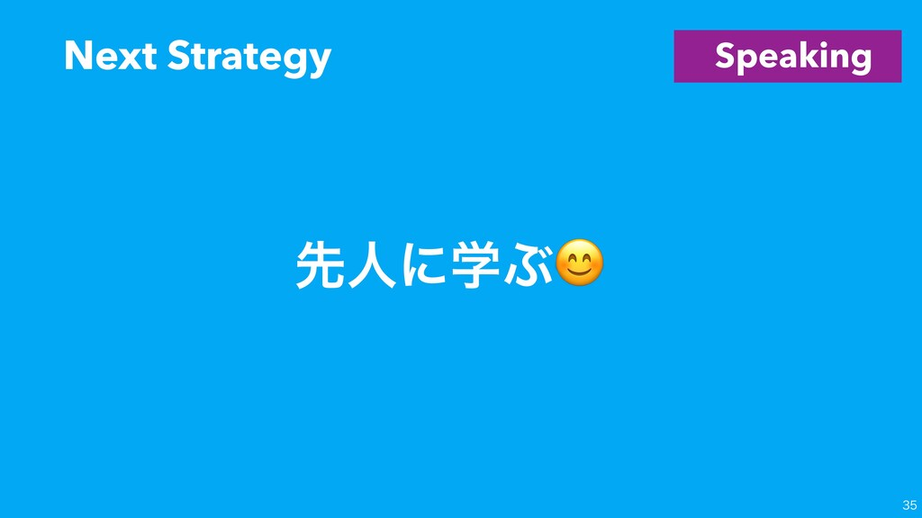 Speaking Next Strategy  ઌਓʹֶͿ