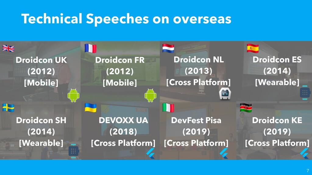 Technical Speeches on overseas  Droidcon UK (2...