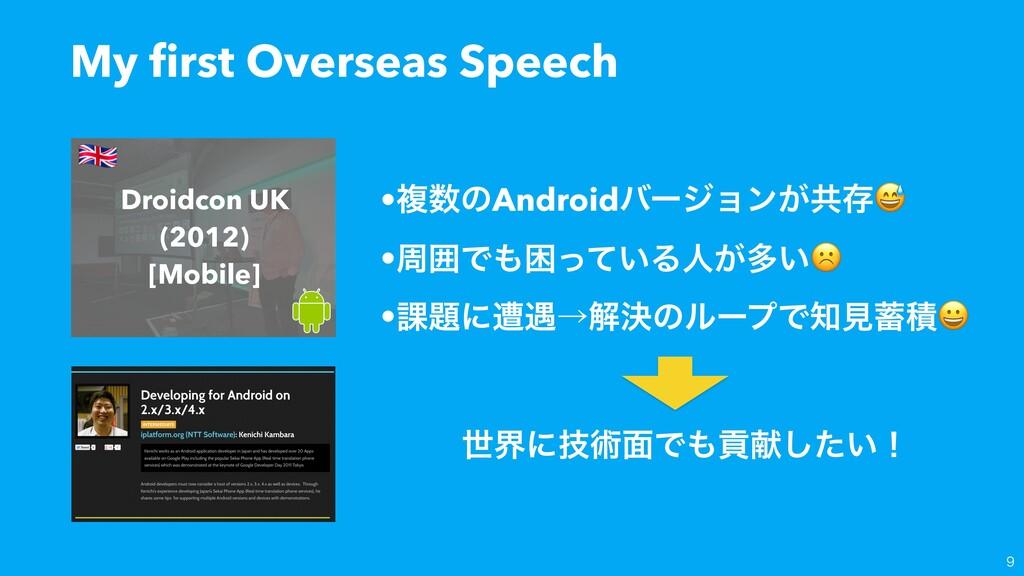 My first Overseas Speech  •ෳͷAndroidόʔδϣϯ͕ڞଘ •...