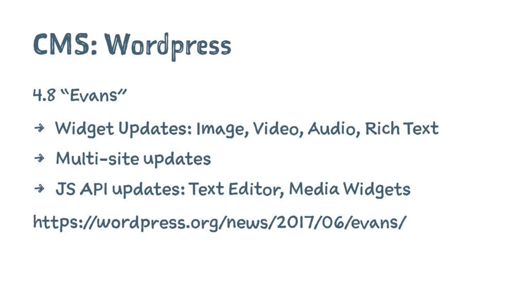 """CMS: Wordpress 4.8 """"Evans"""" 4 Widget Updates: Im..."""