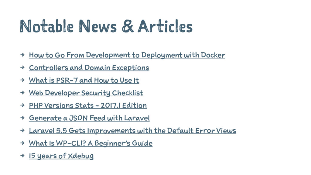 Notable News & Articles 4 How to Go From Develo...