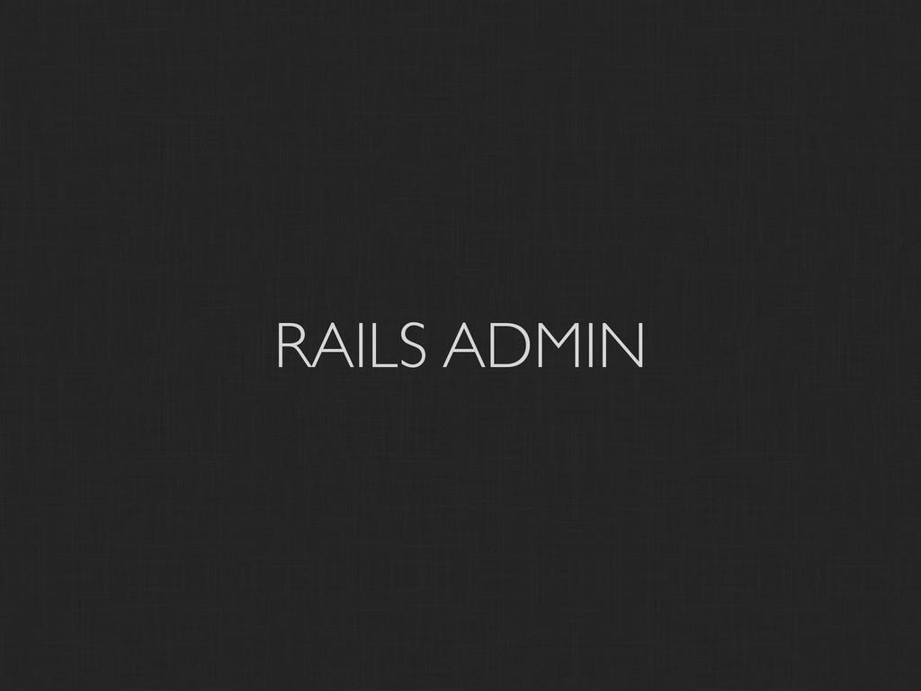 RAILS ADMIN