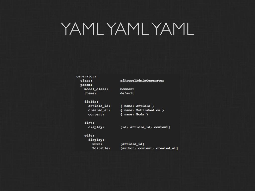 YAML YAML YAML