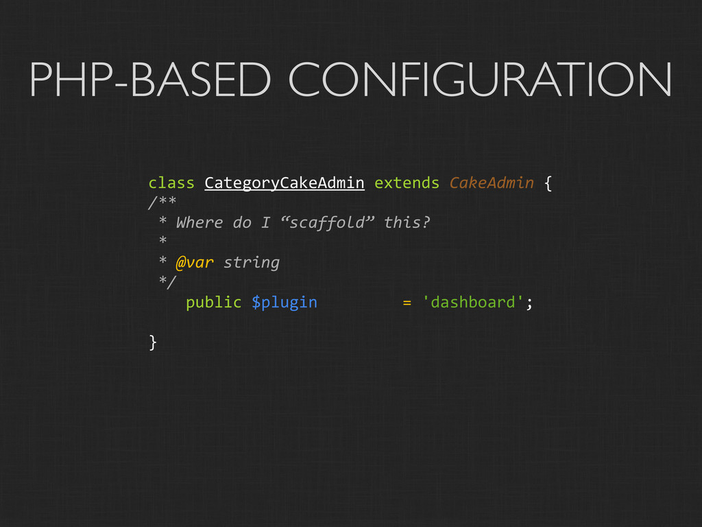 PHP-BASED CONFIGURATION class CategoryCakeAd...