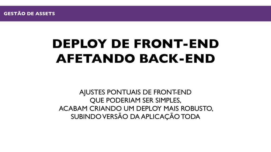 DEPLOY DE FRONT-END AFETANDO BACK-END AJUSTES P...